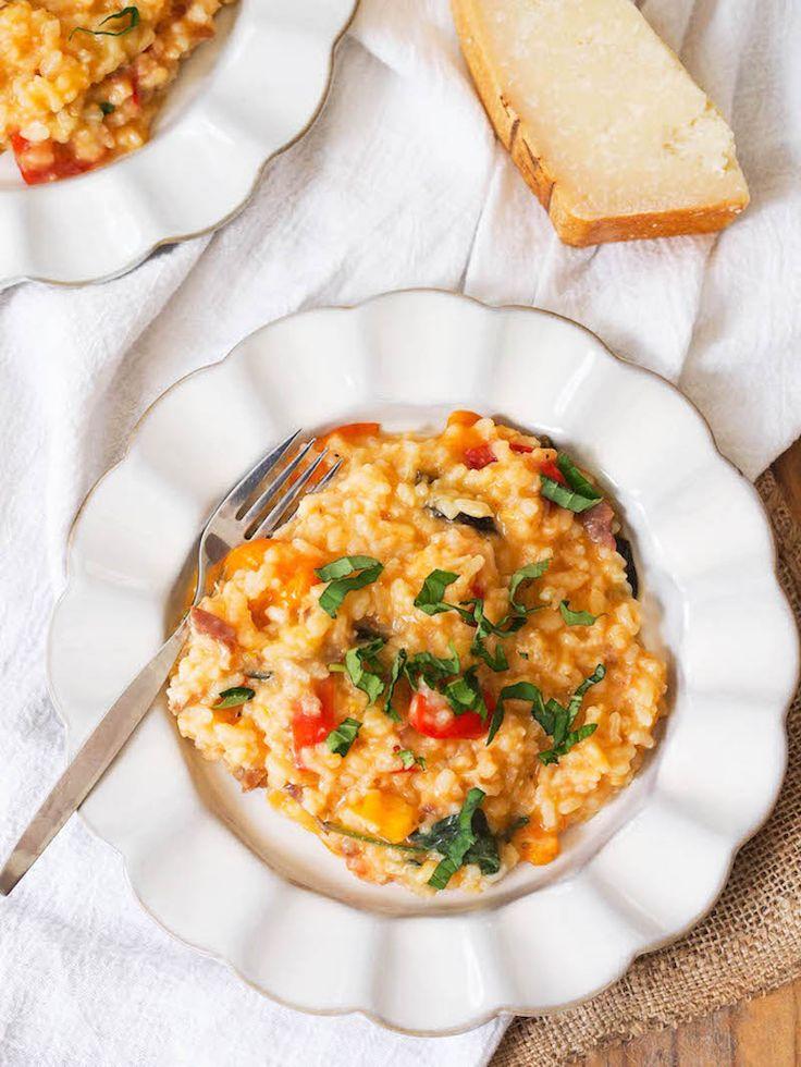 Creamy tomato basil risotto with prosciutto recipe for Ham risotto recipe