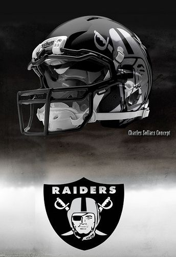 This helmet is sick!!!!!! RAIDER NATION IS COMING BABY!!!