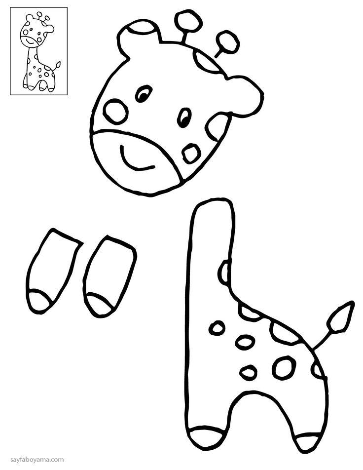 Kes Yapıştır Birleştir Zürafa Sayfa Boyama