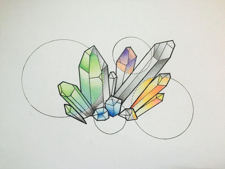 Crystal Tattoo Design by georgianielson
