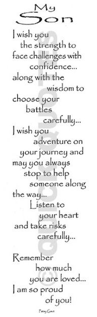 To my Amazing Son, Danzer Lee. Who has always brought me such Joy. I love you more than words can say!