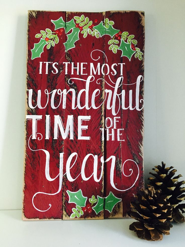 It 39 S The Most Wonderful Time Of The Year Christmas Sign