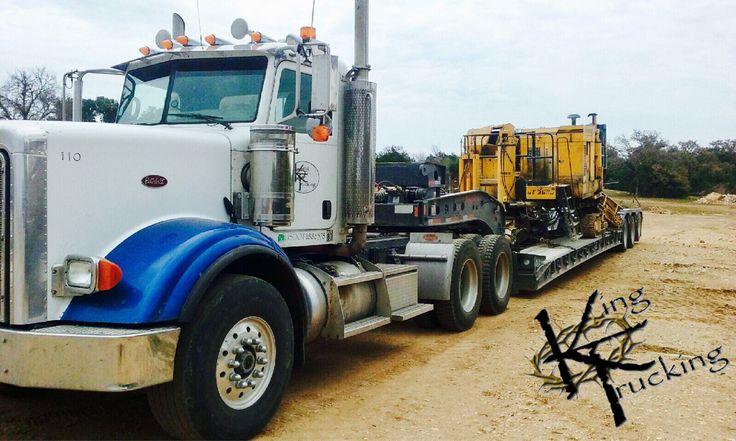 #kingtrucking #hauling #equipment  #heavyhaul #atx #peterbilt #komatsu #excavator #construction #bigiron #largecar #largecarmag #wheelloader #loader #kenworth #lowboy #volvo #siteprep #centraltexas #texas #curbmachine