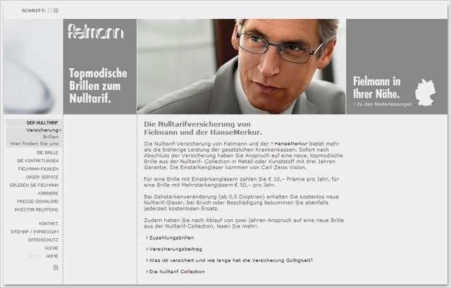Fielmann Brillenversicherung Online Kundigen