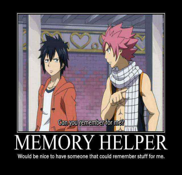 Exactly! Memory Helper. Fairy Tail