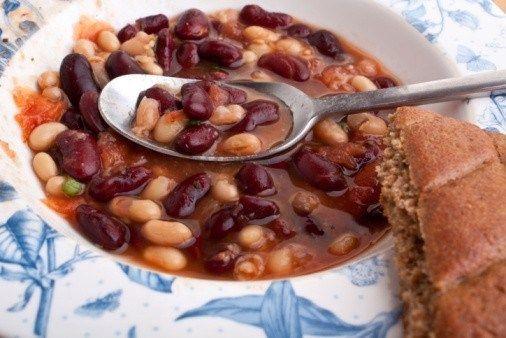 Овощной суп с брюквой и фасолью