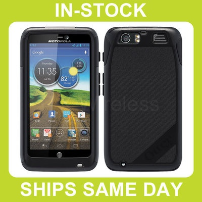Otterbox Commuter AT Motorola Atrix HD Case Cover with Screen Protector - Black