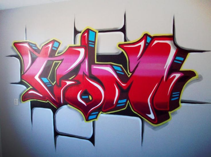Get a graffiti artist to this on a wall in his room!