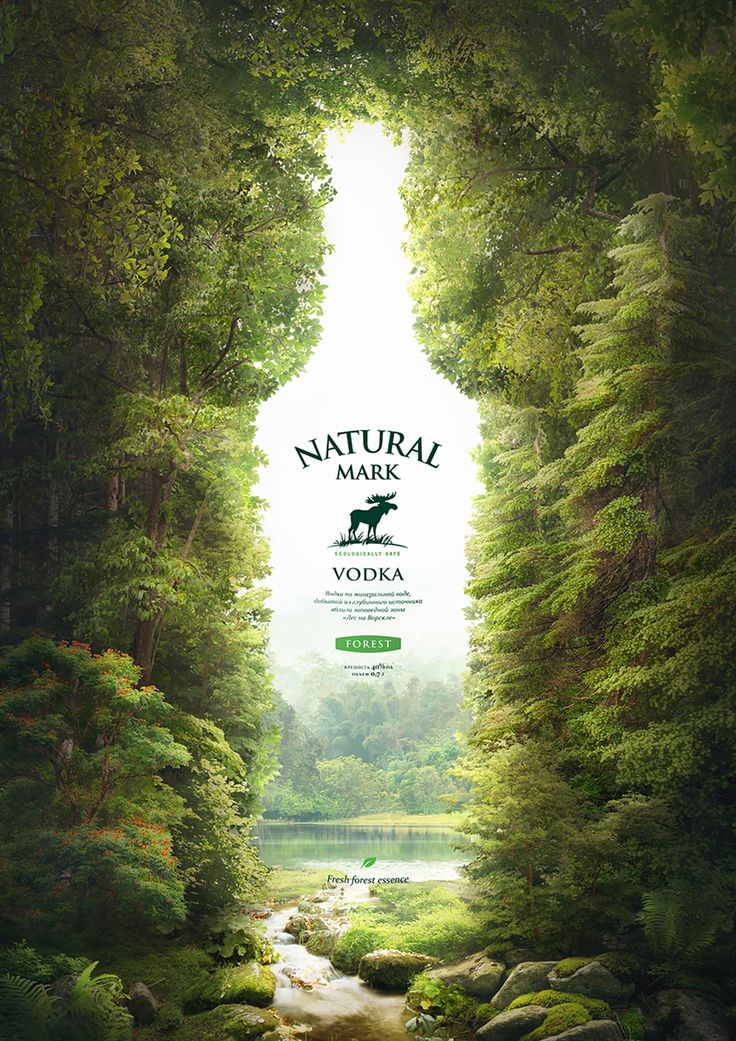 Natural Mark – vodka on mineral water on