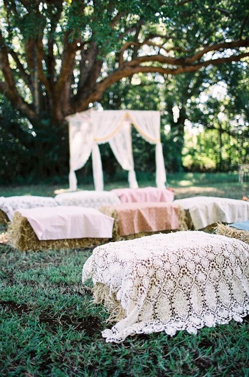 Quick Six Inspiration. Hay Bale Seating
