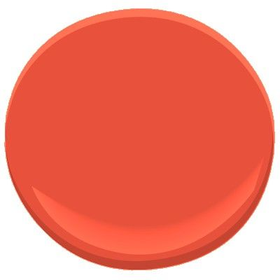Benjamin Moore blazing orange 2011-20. Color of our giant floor length mirror