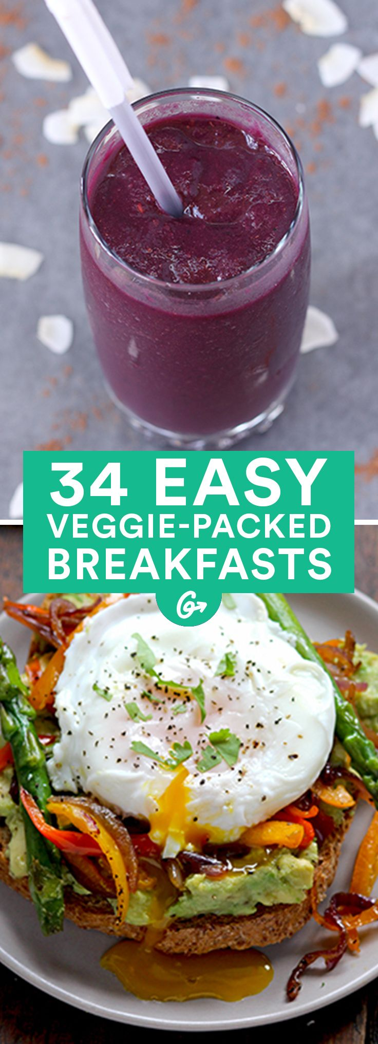And they're not all omelets! When you want a satisfying, savory start to the day, try one of these delicious recipes #healthy #breakfast #recipes http://greatist.com/eat/healthy-breakfast-recipes-with-vegetables