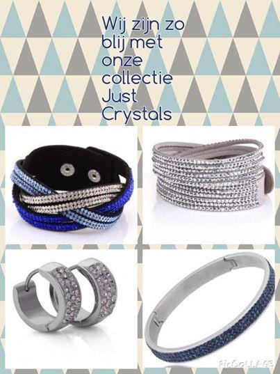 Fantastisch, de armbanden en oorbellen van Just Crystals! Gemaakt van Edelstaal en Swarovski kristallen. Niet alleen in de winkel, ook online http://www.deboerlederwarenenbijoux.nl/bijoux/merken/just-crystals/