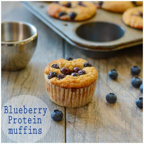 Blueberry Protein Muffin Recipe with Amy Stafford from www.ahealthylifeforme.com