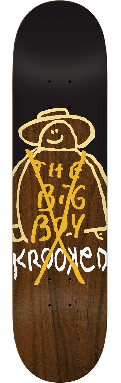 Krooked Skateboards The Big Boy Skateboard Deck Black