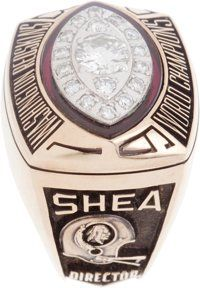 1982 Washington Redskins Super Bowl Championship Ring Presented to William Shea