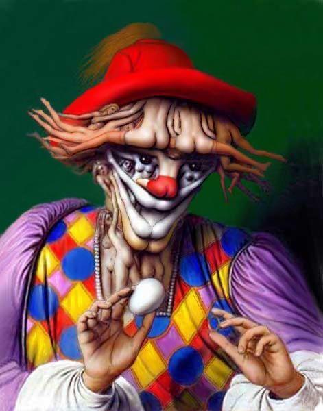 Optische illusie clown