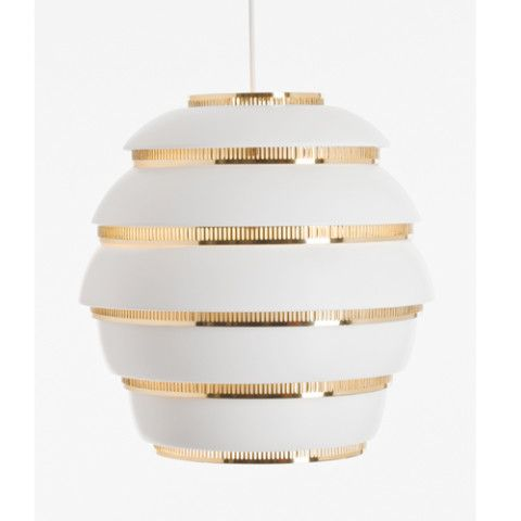 Alvar Aalto A331 - Beehive Ceiling Lamp from finnstyle.com, $995, post by Keep