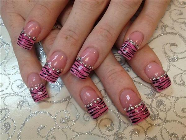 zebra nail designs | tags acrylic nail art nail art gallery nail designs nail