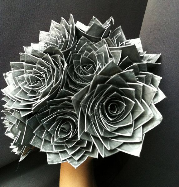 DIY Duct Tape Wedding Bouquet