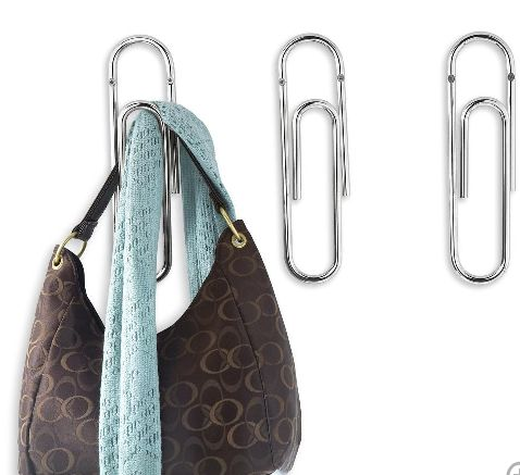 Giant paperclip wall hook stylists coat hooks and cute Cute coat hooks