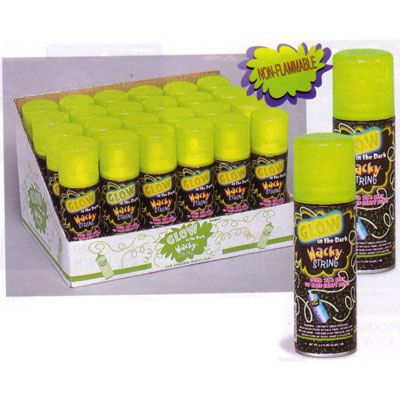 Glow in the dark wacky silly string http://www.partysuppliesnow.com.au/