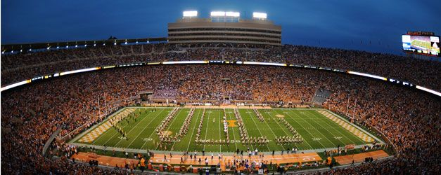 Enjoy a Saturday with 102,455 of your closest friends! There is nothing quite like a football game in Neyland Stadium, one of college footballs most iconic landmarks.