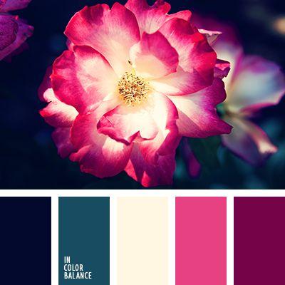 azul medianoche y rosado, color fucsia, color púrpura, color rojo carmesí, color verde hierba, combinación contrastante, crema y esmeralda, crema y frambuesa, crema y rojo, elección de colores para el interior, esmeralda y beige, esmeralda y fucsia, esmeralda y rosado pálido, púrpura y