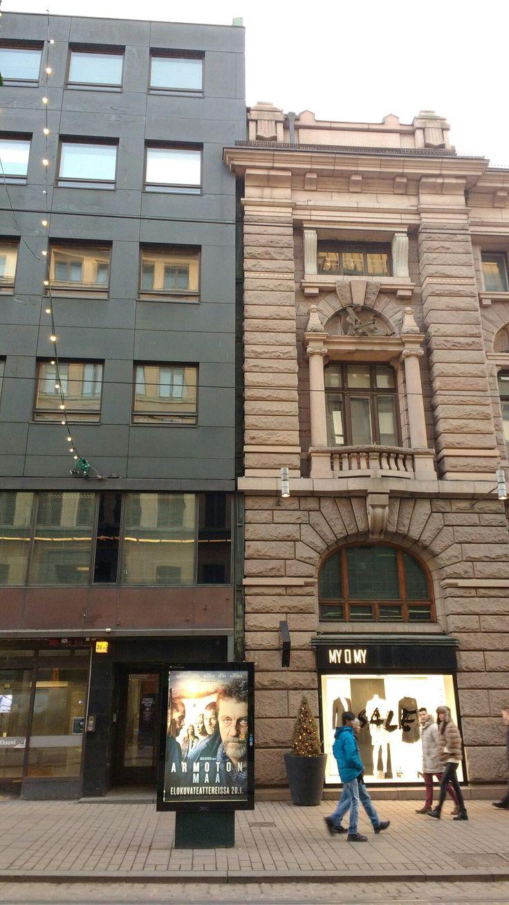 Aleksanterinkatu Helsinki, old versus new