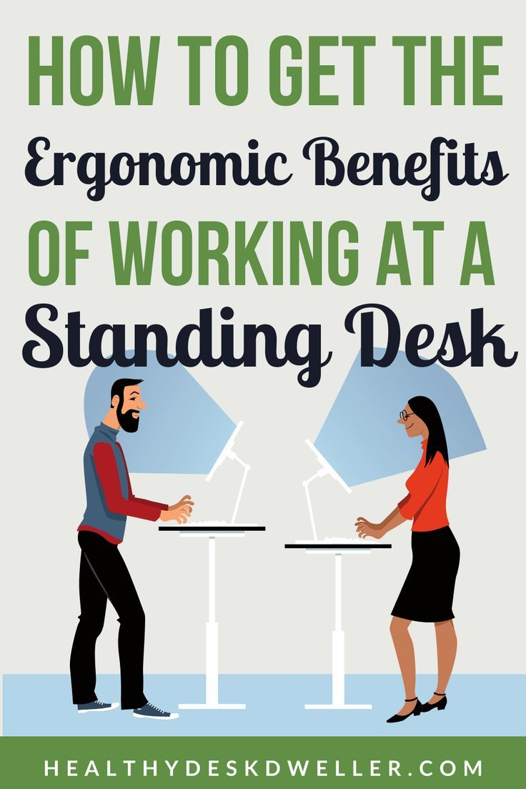 How To Stand At A Standing Desk And How Long To Stand In 2020 Standing Desk Exercises Desk Workout Desk