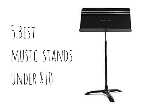 Even beginners benefit from using music stands when practicing.