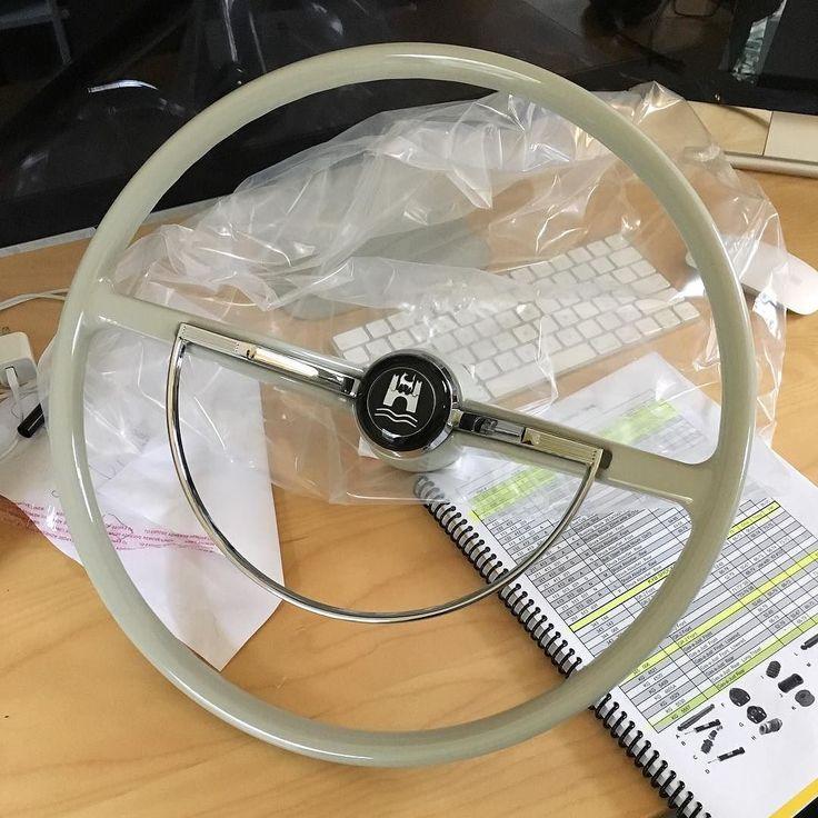 Silver grey steering wheel for a customer from Japan. (Flat 4) Beautiful. - #LaneRussellVW #VintageVW #Volkswagen #aircooled #aircooledvw #german #vw #vws #vdub #vdubs #bug #beetle #thesamba #vwbus #vwallday #vwdaily #vwlife #vwlove
