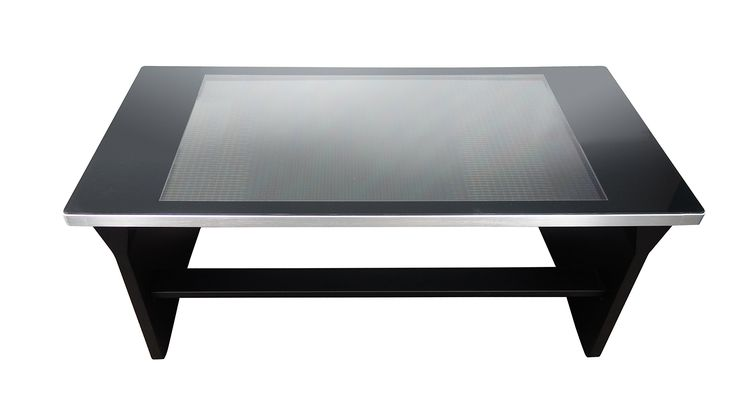"""Neuimage D42RT01 Interactive Digital Display Coffee Table, Black. 42"""" full HD 1920 x 1080 touch display. Includes built in media player, windows compatible. Tempered glass. Black acrylic finish."""