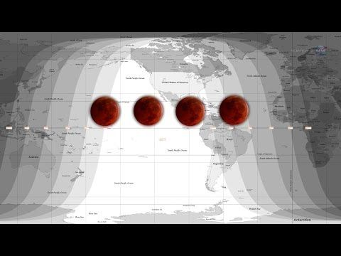 On April 15, 2014, an extraordinary series of total lunar eclipses will begin in the United States. This series, called a lunar eclipse tetrad, will result in four red moons over the course of a year and a half. NASA explains the significance behind this phenomenon, and sheds light on how the moon transforms into a bright red orb.