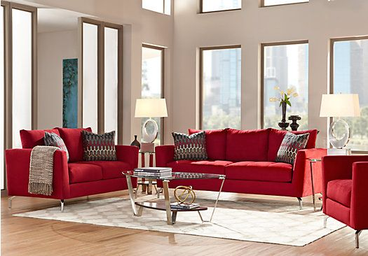 picture of Sofia Vergara Carinthia Cardinal 7Pc Classic Living Room  from Living Room Sets Furniture