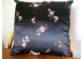 Cushion (Cover only) - Black Satin