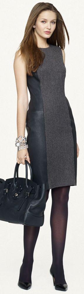 Ralph Lauren. Smart grey work dress. Perfect for professionals.
