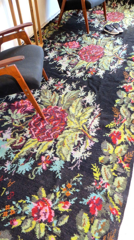 Navy greek key rug transitional entrance foyer libby langdon - 5 6x10 8ft 171x328cm Large Area Rug Bohemian Rug Floral Carpet Rose Kilim Rug Boucherouite Rag Rug Berber Rug Moroccan Rug Rug With Dogs