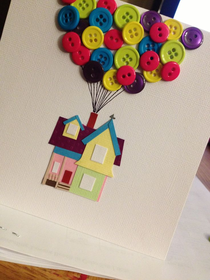 UP themed wedding card...would be cute as a guest book page...guests glue a…