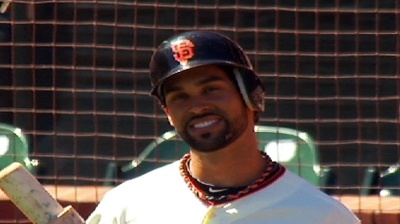 """When Angel Pagan came up to bat in the third inning of Saturday's Giants-Dodgers game, the fans at AT Park were not expecting anything out of the ordinary. But when a little girl's voice came over the P.A. system announcing that """"my daddy"""" was next up to bat, the crowd went wild. Something that cute will bring about a loud round of applause."""
