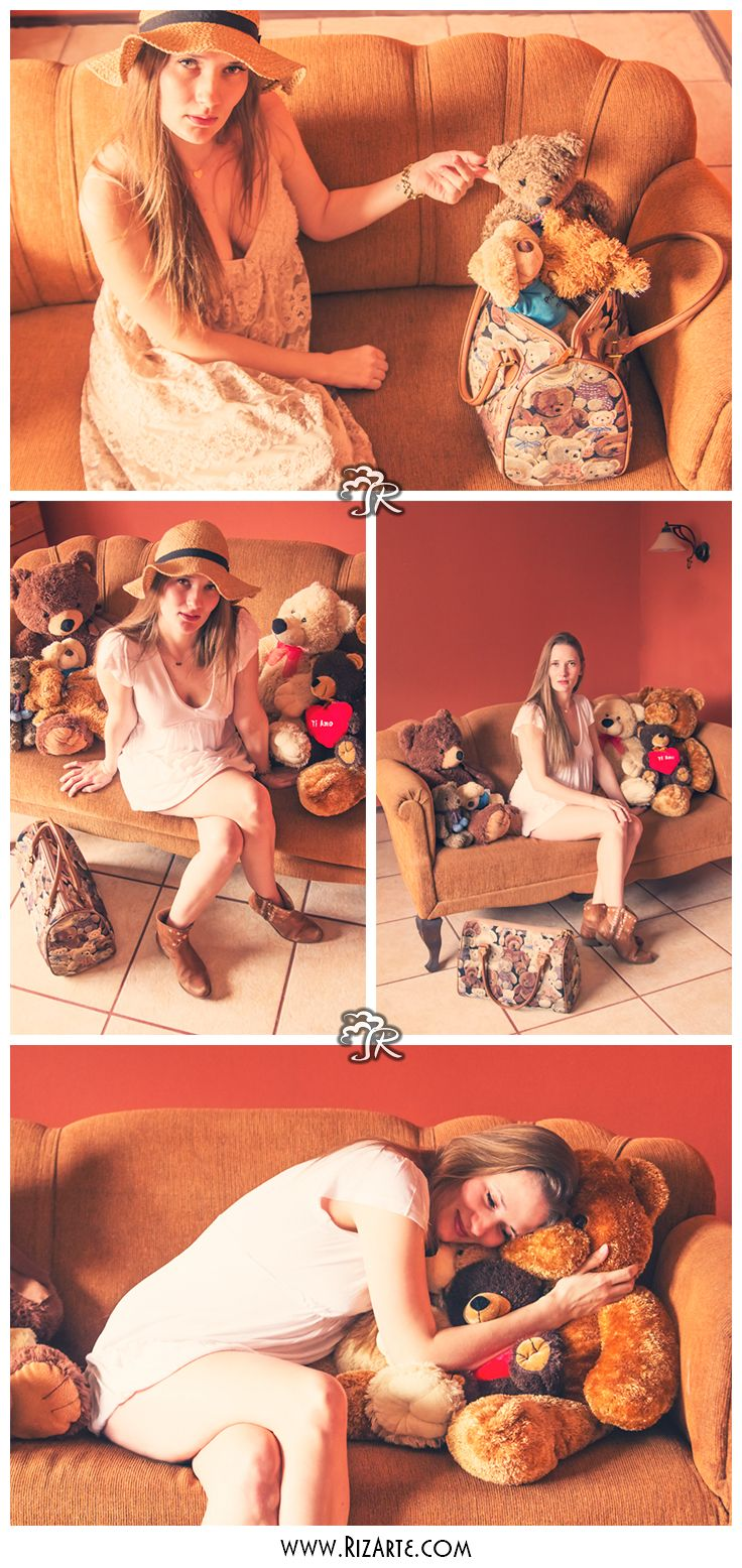 cute session with teddy bears.  www.RizArte.com