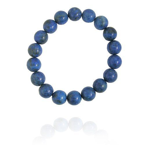 "10mm Round Lapis Bead Bracelet, 7.25"" Amazon Curated Collection. $19.00. Made in China. Save 14%!"