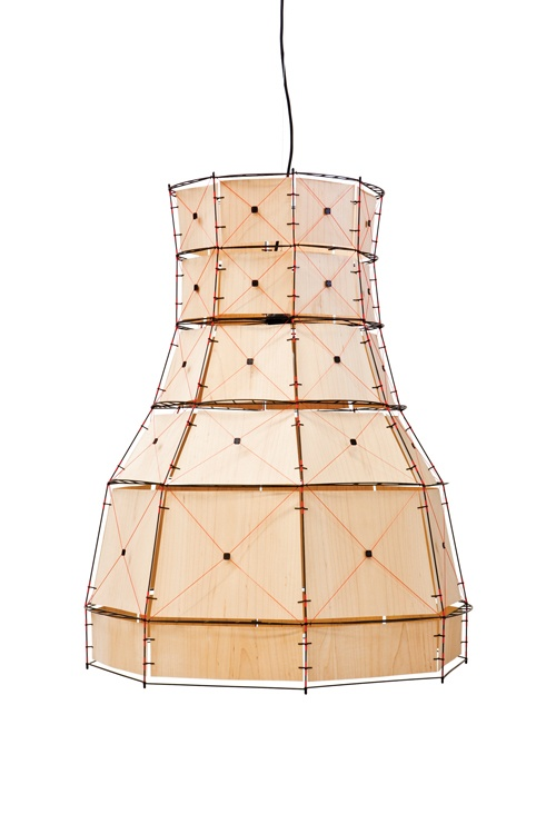 // Mieke Meijer: lamp (I know it's probably not laser machined! Anyway, I'm thinking about a way of designing similar lampshades with laser cut plywood)