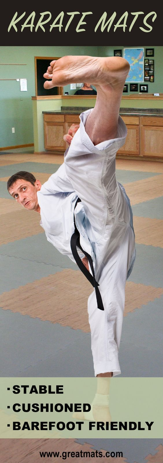 """Take a look at the best Karate Mats on the market - Greatmats 1"""" Thick Martial Arts Karate Mats!"""