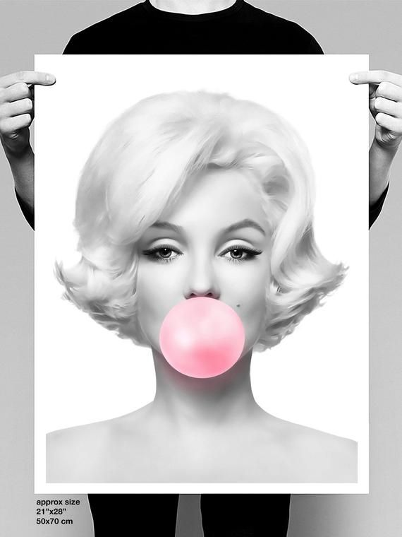Picture Poster Art Pin Up Actress Framed Print Marilyn Monroe Black /& White