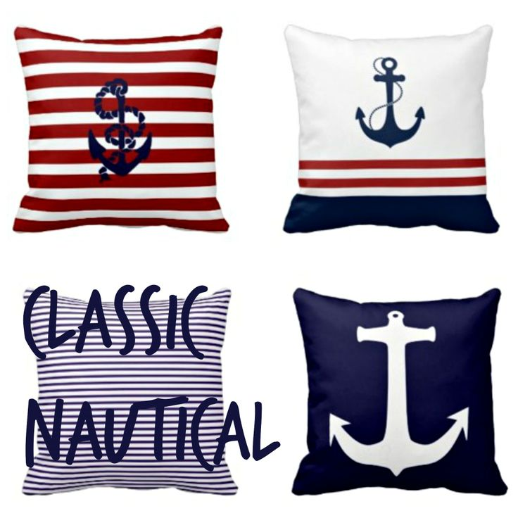46 best images about Nautical Blue & Red on Pinterest Blue throw pillows, Anchors and Beaches