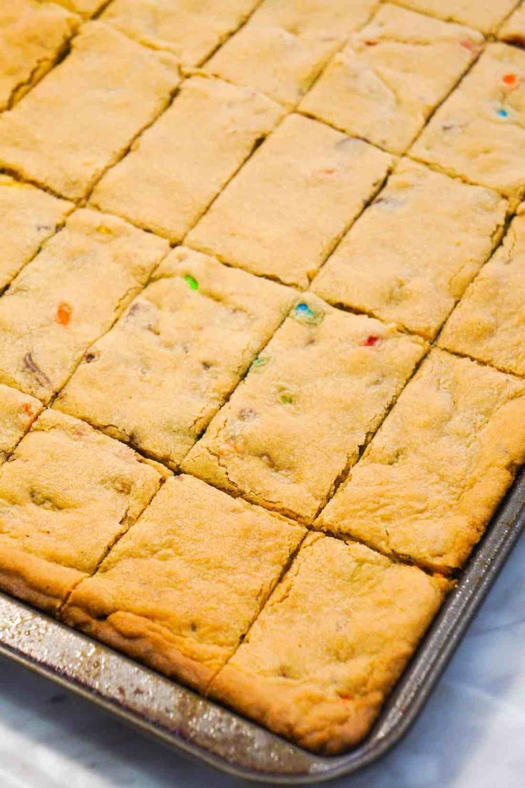 Peanut Butter Cookie Bars are an easy dessert reci…