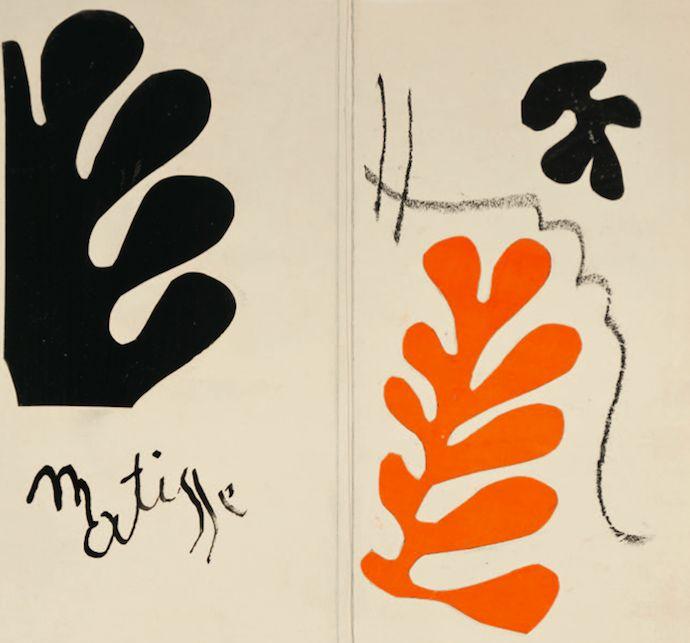 Анри Матисс. Макет обложки каталога к выставке литографий Матисса в парижской галерее Berggruen, 1954