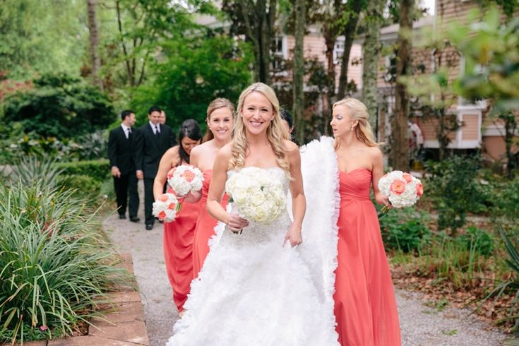 Red, Coral + Persimmon Wedding // Creek Club at I'On // Dana Cubbage Weddings // Charleston SC Wedding Photographer