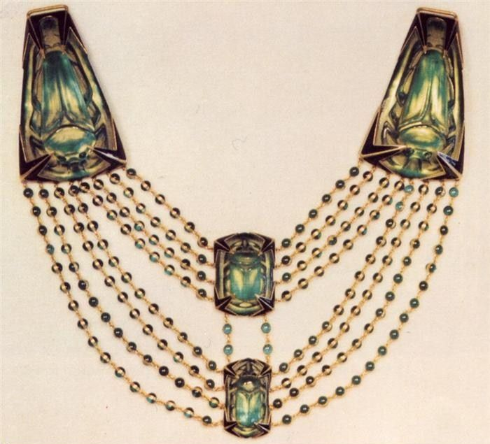 Art Nouveau Artists- Lalique Jewelry, Necklace ~ Make a great collar!